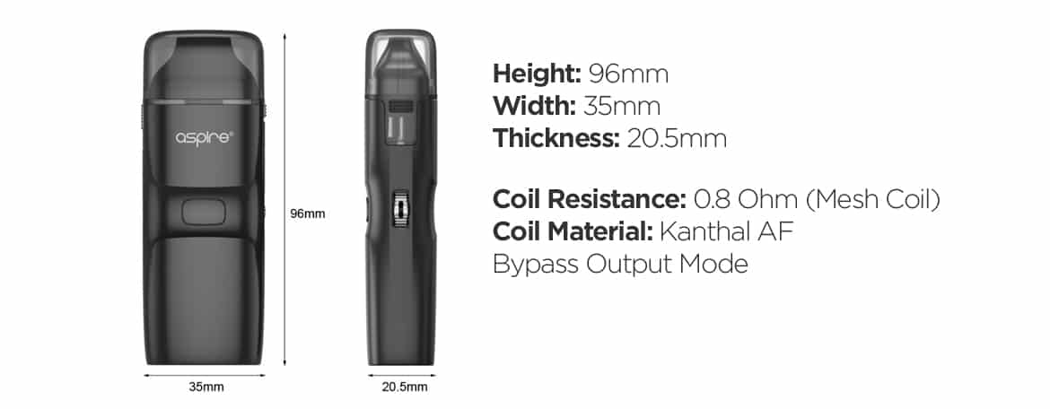Specifications of the Aspire Breeze NXT