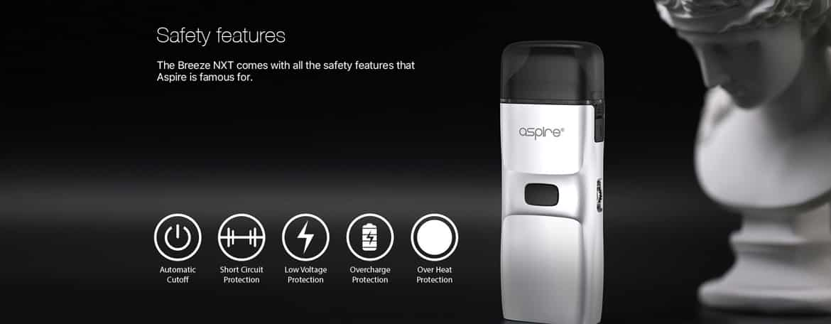Safety Features of the Aspire Breeze NXT