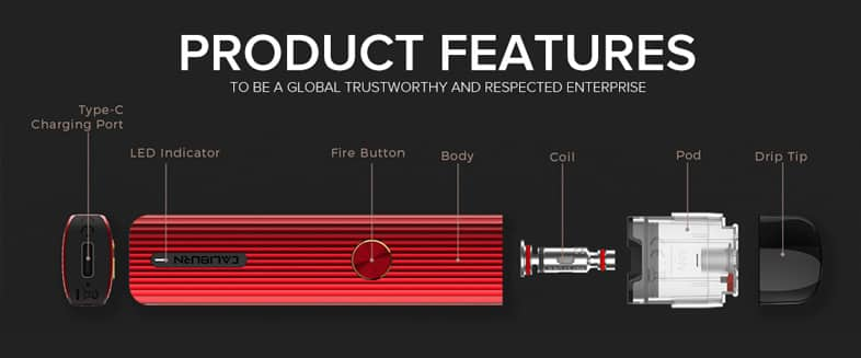 Uwell Caliburn G Pod System Product Features